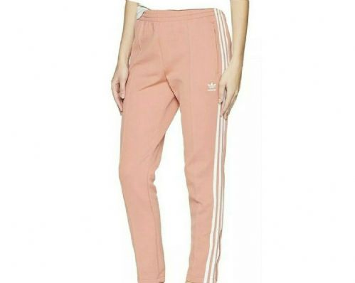 adidas Originals High Waisted Junior Track Pants Glow Pink Peach / White ED7876